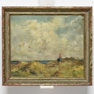žena na pobřeží
